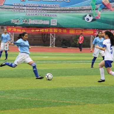 2017河池市第三届千里杯足球赛我校女队风采
